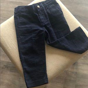 Navy Blue Gymboree Linen Pants - 12-18mo